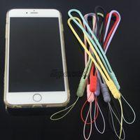 Bunte Mode Silikon Lanyard Riemen Charms Mobiltelefon Schlüsselketten Lanyards Strap Zubehörgeschenk Universal für Cellphones