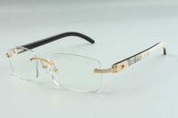 2021 Novos Óculos Estilo Quadros Para Homens Mulheres High-End Designers Óculos 3524012 Natural Híbrido Búfalo Chifres Óculos Quadro, Tamanho: 36-18-140