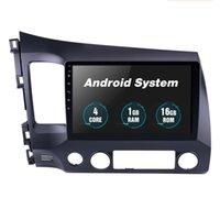 Radio GPS DVD de voiture pour Honda Civic 2006-2011, 10,1 pouces Lecteur MP3 Stéréo Android 10 in Dash Voiture Multimedia Player