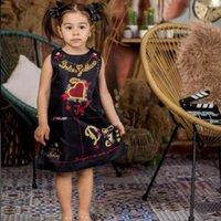 Girls Beach Dress Summer Vintage Royal Style Printing Pattern Kids Vest Dresses for Girl Clothing Toddler Boho Costumes Vestidos