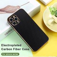 Чехлы для телефона из углеродного волокна для iPhone 13 12 11 Pro Max XS XR X SE 7 8 плюс Huawei Mate 30 золотая задняя крышка