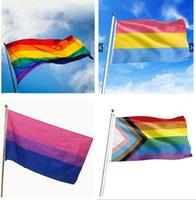 قوس قزح العلم راية 3x5ft 90x150 سنتيمتر مثلي الجنس فخر الأعلام البوليستر لافتات الملونة lgbt مثليه الإستعراض الديكور في المخزون