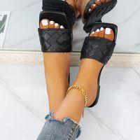 Sandals Summer Shoes Woman For Women 2021 Bling Flat Ladies Beach Sandles Designer Luxury Sandalias Mujer Sandels