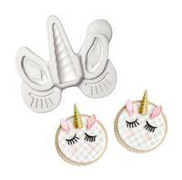 3D Cake Decorating Fondant Icing Silicone Mould - Unicorn Horn Ears Eyelash Baking Moulds SN2814
