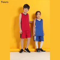 جديد كرة السلة الفانيلة أطفال الرجال موحدة الكبار الأطفال مخصص بلا أكمام الرياضة نسخة فارغة قمصان السراويل الفريق التدريب الدعاوى