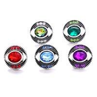 Wholesale strass Œil de 18mm Bouton Snap Fermoir Charms en métal pour Snaps Recherches de bijoux Fournisseurs