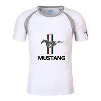 Fórmula 1 Manga Curta F1 Camisa Verão Men's Ford Mustang T-shirt Moto Motor Motorcycle Fit Gym Fitness Tees