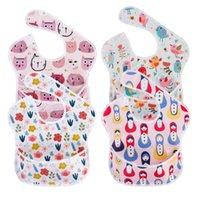 Baby Bibs Overlothes A prueba de agua Cena de babero BIB Handkerchief Saliva Toalla Algodón Newborn Burp Paños de algodón Feedin Paño Gvestur WMQ635