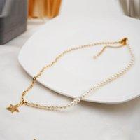 Lexie Diary 2021 Nouvelle mode Creative Creative Heart Star Naturel Perles d'eau douce Collier Chaîne de chandail pour femmes Accessoire Bijoux