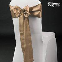 """7 """"x108"""" Silla de silla de sasras de satén cinta de banquete de banquete de boda suministros"""