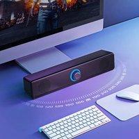 Portátil USB 4D Surround SoundBar Bluetooth Altavoz Altavoces por cable Altavoces Estéreo Subwoofer Bar de sonido para PC Laptop TV