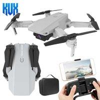 UAV KF609 RC DRONE 4K HD WiFi FPV-Kamera-Video-Video-optische Strömungshöhe Hold-Modus Mini-Drohnen faltbarer Quadcopter-Flugzeug-Helikopter-Spielzeug Q0602