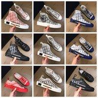 Classici Qualità Uomo Donne Designer Scarpe Espadrilles Sneakers Stampa Passeggiata Sneaker Sneaker Ricamo Canvas High Top Piattaforma Shoe 15