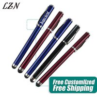 Ballpoint Pens LZN Stylus Pen Touch Screen Metal Capacitance For Samsung Free Personalized Logo Text As Wedding Gifts