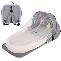 Baby Cribs Foldable Travel Bassinet Sleeper Bed Nursery Nest For Borns Portable Mosquito Net Hanging Toys