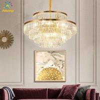 K9 Crystal Crystal Chastelier 6 слоев роскошный домашний подвесной светильник крытое освещение для лестницы гостиной украшения