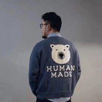 2021 Human Fabriqué Polar Bear Pull tricoté Automne Hiver High Street Fashion Hommes Femmes Pull Sweat à capuchon Sweat-shirt