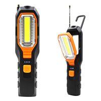 USB Rechargeable LED Work Lampe de lumière LED LED Support TORCH SUPPORT CROCHE DE SOMME POUR CAMPING ATELIER Réparation de voitures