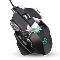 ماوس الألعاب السلكية LED الماوس الميكانيكية القابلة للبرمجة الخلفية، ما يصل إلى 6400 نقطة في البوصة لشبكات الكمبيوتر اللاعبين
