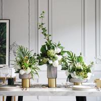 Vasen einfache nordische Hochzeit liefert hohe Glasvase Dekor Ornament Obst Tablett Home weiche Sammelkunst Dekoration Zubehör