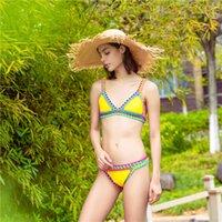 Size Bikini Mulher Bikini Bijini Bikini Sets Dois Peça Swimwear Moda Sexy Imprimir Split Beach Thong Thong Summer Roupas