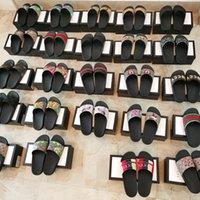Yüksek Kaliteli Moda Terlik Sandalet Çiçek Hayvan Çevirme Kapalı Çizgili Plaj Banyo Bayanlar Kaymaz Sandalet US5-11