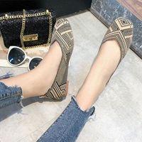 Zapatillas de tela Mujeres 2020 Primavera Nueva Moda Cómodo Cómodo Tamaño grande Fondo plano Pedal Pedal Embarazas Zapatos Zapatos cómodos DIS X5RY #