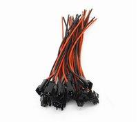100 pairs 15 cm Uzun JST SM 2Pins Fiş Erkek Kadın Tel Konnektör için LED Kablo Aksesuarları için