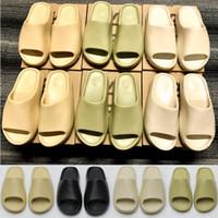 2021 slippers sandálias sandálias homens mulheres deserto areia terra marrom osso branco núcleo puro núcleo de resina laranja corrediça de espuma de resina slide outdoor slipper tamanho 35-47