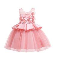 Girls Dresses Kids Clothes Children Clothing Wedding Flower Dance Pageant Formal Dress Wear Ball Gown B8235
