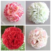 15x21 cm El Yapımı Yapay Gül Çiçekler Öpüşme Asılı Topu DIY Buket Ev Düğün Dekoru SCVD889