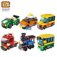 Loz Mystery Boxes Mini Bausteine von Dinosaurier, Auto, Militär Truck Engineering Fahrzeug, DIY Pädagogisches Spielzeug, Kind Weihnachtsgeschenk, 2-1