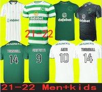 Tailândia Qualidade Tamanho S-4XL 21 22 Jerseys de futebol celta 2021 Out Black Edouard Johnston Griffiths McGregor Maillots de Foot Forest Football Shirts Uniformes