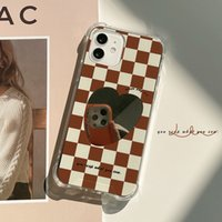 Stand-alone package checkered mirror Cell Phone Cases( IPhone 13 12 Pro Max 11 XR XS X 10 8 7)Protective Cover Anti-fall, minority personality.Cell Phones & Accessories