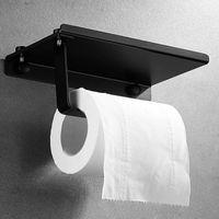 Hooks & Rails Stainless Steel Toilet Paper Holder Equipment Bathroom Hardware For Shelf Wall Mounted Towel Roll