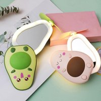 Compact Mirrors Portable Pocket Makeup Cooling Fan LED Lights Handheld USB Rechargeable Mirror N3W0