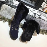 Designers Winter Snow Boots Real Fur Slides Classic Leather Waterproof Warm Knee High Boot Fashion Booties With Box