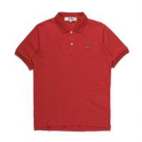 جديد أزياء كوم الجملة جديد أفضل جودة رمادي أسود القلب CDG DES Garcons Play Black Polo T-Shirt Size M المصنوعة في اليابان Junya Homme Plus