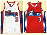 Ship From US Calvin Cambridge #3 LA Knights Basketball Jersey Like Mike Lil Bow Wow Stitched White Red Jerseys Size S-2XL Top Quality