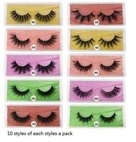 100 pairs a lot color bottom card false eyelashes 3d mink lashes natural long fake lash hand made makeup faux cils m1-m10 styles
