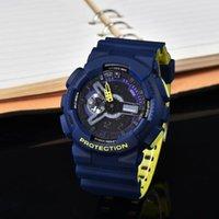 Relógios ga110 relógio homem militar cronógrafo conduzido relógio digital esporte relógio de pulso homens relógios de quartzo dupla strap montres despeje hommes