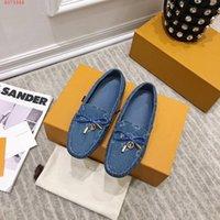 2021 Nuova Loafer piatto Gloria 1A3V3B Stivali da donna Boots Pompe Pompe Piatti Sneakers Sandali con scatola Dimensioni 35-41