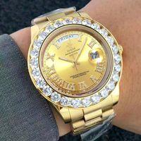 망 럭셔리 시계 브랜드 진짜 크로노 그래프 남자를위한 손목 시계를 완전히 아이스합니다.