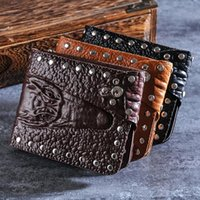Wallets Short Mens Alligator Pattern PU Leather Man Purses Hasp Purse Moneybags Cards ID Holder Brand Design Wallet Burse Bags