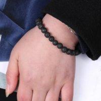 Jewelry Anti-fatigue Lava Natural Stone Charms Bracelets Volcanic Rock Charm Bracelets Prayer Beads Bracelet ps0703