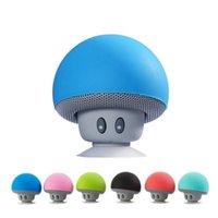 100x Wholesell Cartoon Mushroom Wireless Bluetooth Speaker Waterproof Sucker Mini Bluetooth Speaker Audio Outdoor Portable Bracket by DHL