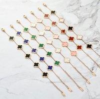 7 couleurs Nouveau Mode Designer Trèfle Bracelet Lucky Love Bracelets Dépenses Gloire Richès Fashions Design Femmes Femmes Bracelets