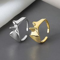 Abertura Feminino Ins Minority Cool Dign Sense Fashionable Engraçado Forma Índice Ring