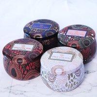 Tarco de vela perfumada Vacíaco de hojalata redonda Can DIY Vela hecha a mano Alimentos de té caramelo Tablet Accesorios Caja de almacenamiento con tapa