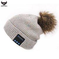 Bola de lã coreana música de tricô chapéu inteligente headset explosão 175c722